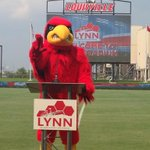 The Cardinal Bird addresses the media at the opening of Lynn Stadium. #L1C4 #wave3sports http://t.co/HOxc2KRr5s