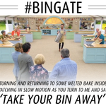 """@BBCOne: 'Take your bin away…' Poor Iain and the sad tale of the Baked Alaska. #GBBO #BINGATE http://t.co/wjjoejbKf0"" @_MichelleW Poor Iain"
