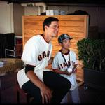 RT @SFGiants: #SFGiants Pitcher Javier Lopez signs for suite holders as part of their fantasy batting practice experience http://t.co/mFl647NODj