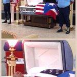 Exponen restos de Geniel Amaro Fantauzzi, agente fallecido tras intervención en residencial de Las Piedras. http://t.co/nDOA7tT3o7