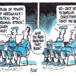RT @bryce_edwards: #DirtyPolitics collides with post-Earthquake Chch in Evans cartoon in Timaru Herald today: http://t.co/VKF4VLuvFh