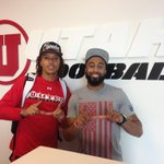 RT @Utah_Football: We had a special visitor stop by Ute headquarters today. Thanks @ReggieDunn100! Hanging with @DrizzyDrezz_6 http://t.co/U986wYFXVB