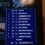 Here's tonight's #Royals lineup vs. the Twins at #TheK http://t.co/qs1PSjY3OA