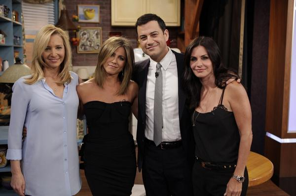 Instead of watching #Friends repeats on @NickelodeonTV you can watch the ladies reunite on @jimmykimmel tonight. http://t.co/uC3PdSzAhv