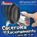 Mañana a las 8pm Cacerolazo Nacional! Maduro tu libreta electrónica de racionamiento al estilo Cubano #NoMeLaCalo http://t.co/LDnVWpnSzl