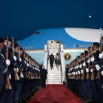 Photo: President Barack Obama and First Lady Michelle Obama board Air Force One at Tegel… http://t.co/Kl0AG7MMnI http://t.co/RBOpb4UHi4
