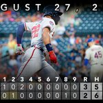 RECAP: @JasonHeyward homers, strong defense backs @Julio_Teheran in #Braves' win over Mets. http://t.co/6ibTTZ5FVm http://t.co/Zh8XQs54bW