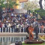 RT @alcaldiagye: Ex vicepresidente Blasco Peñaherra dirigió unas palabras en la Inauguración del Monumento LFC http://t.co/A6j4ch9ju5