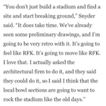 RT @dcsportsbog: Daniel Snyder says Redskins next stadium will have echoes of RFK http://t.co/mdDrTz07Be http://t.co/nKRkoArf57