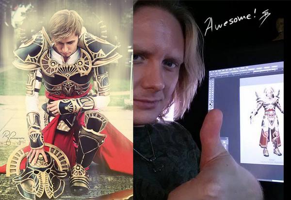 Love this. Talented cosplayer makes armor from Rift; Artist shares & sends props. GJ, Hannes! https://t.co/eKTViexeek http://t.co/iz2NodL80P