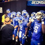 RT @GSUPanthers: Just minutes ago, Trent Miles leads his team out of the tunnel to kick off the 2014 FBS season. #PantherFamily http://t.co/QJjWHcSmCd