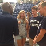 The first years hanging with @darrellgreen28 @UMWAthletics #UMW http://t.co/r1XGAeU0Ie