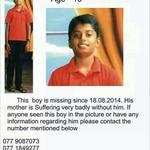 RT @LankaMuslims: Mohamed Sanfar (16) of Negombo missing from last 10 days. If you have seen call - 0779087073, 0779801515. Photo #lka http://t.co/pSwaiOxM4e