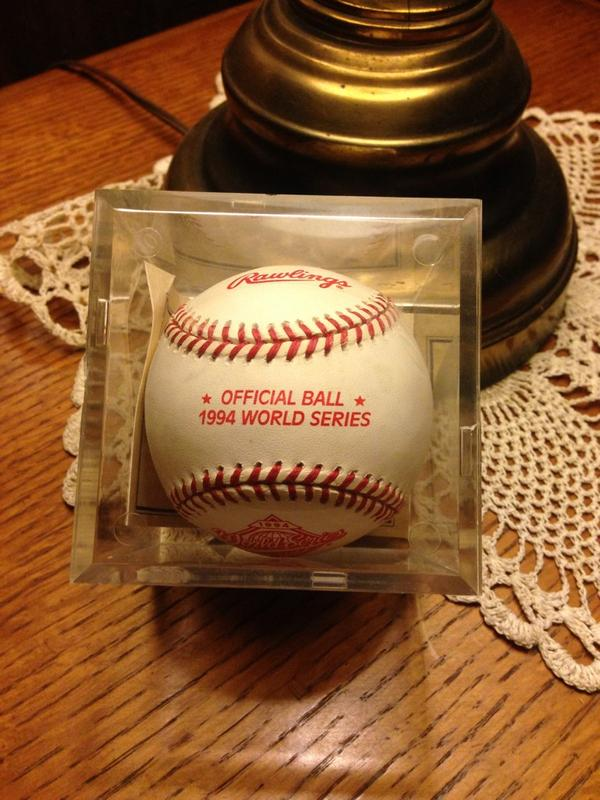 RT @sftcbaseball: 1994 World Series game ball. The year of the strike. @Baseball_Photos #noworldseries http://t.co/QHU1lgd2rf