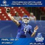 RT @SunBelt: FINAL: @GSUPanthers kick off college football with a thrilling 38-37 win! #FunBelt http://t.co/SAbjmiDUCn