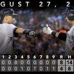 RT @Yankees: RECAP: #Yankees put up eight-run third inning, sit 2.5 games back of 2nd #WildCard spot. http://t.co/m7c86fcvtC http://t.co/624Fkj6jvr