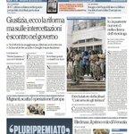 RT @repubblicait: Giustizia, ecco la riforma ma sulle intercettazioni è scontro nel governo - La prima pagina di Repubblica di oggi http://t.co/1O1JT0CVfv