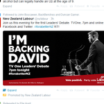 "Who are you backing in tonights leaders debate? The Labour Party is backing someone called ""David Cunliffe"" http://t.co/xLpDChrNiC"