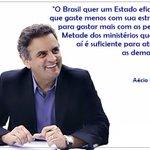 RT @_souaecio: Aécio assume o compromisso de cortar um terço dos cargos comissionados. http://t.co/pq2PzHcRyU http://t.co/qobEEmhmHl