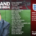 RT @england: Heres Roy Hodgsons full @England squad to face Norway and Switzerland. http://t.co/6nVmjnqIPe