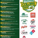 Enjoy the spoils of top 10! College Colors Day Celebration tomorrow at North Plaza at 11a #CollegeColors #wearemason http://t.co/gSsjINF286
