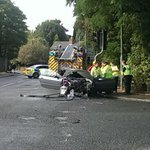 RT @ShadeymanStu: @ExpressandStar Witness: The car on fire hit the rear of a Mercedes and burst into flames. http://t.co/TLqYZUqVhj