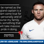 RT @england: Roy Hodgson has just named @WayneRooney as his new @England captain. http://t.co/nBx0mM5dNr