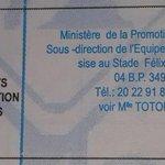 """RT @AMourad22: """"@ALAINLOBOG: Appel doffres. Tous à vos offres. #Réhabilitation du complexe sportif dAbobo. #DMP #Ci225"""" http://t.co/N32uX6Y1ru"""