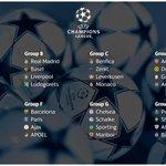 RT @MotivacionesF: Así han quedado los grupos para esta nueva edición de la UEFA Champions League. http://t.co/Fa2TPDrKmt