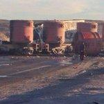 Un camión se incendió y su conductor murió tras colisionar contra el tren, región #Antofagasta http://t.co/VBuwAHzgdx http://t.co/JKRr3xsm4R