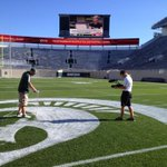 RT @Spartan_Vision: Game day preps continue. Final touches going on at Spartan Stadium. #SpartansNeverStop #CountdownToKickoff http://t.co/q0N9bwHbSw