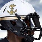 Navys helmets for Saturdays game w/Ohio State http://t.co/82H1xkVOXr