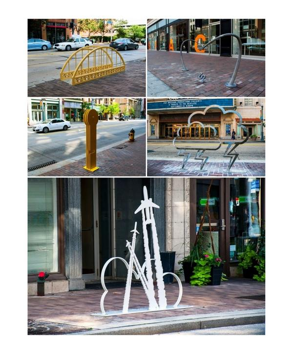 We can't wait to see all the new bike racks filled with bikes, thanks to all the artists! Happy riding! @fraley.toby http://t.co/FMXVpb6ksG