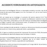 Accidente ferroviario en Antofagasta http://t.co/mGCIYKMu9k