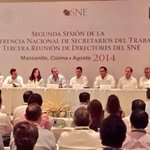 SNE MICHOACÁN, PRESENTE EN LA CONFERENCIA NACIONAL DE SECRETARIOS DEL TRABAJO @SEDECO_Mich @FXAlvarezArias http://t.co/HGfW956hqA