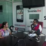 Nuestra líder @TANIATREJ0 con @jctrejopue en @SexenioFM invitando a la juventud poblana a #LFST http://t.co/iKVjb30Xc4