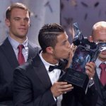Cristiano Ronaldo wins the UEFA Best Player In Europe Award 2014 http://t.co/1wA7r5Vpjt