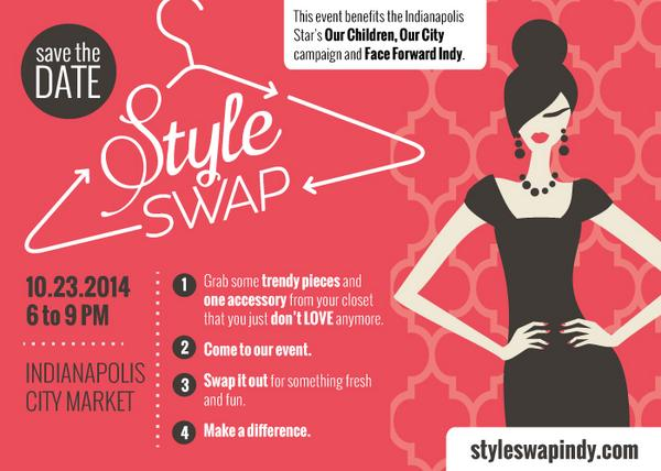 Save the date for @StyleSwapIndy 2014! This year's event will be at @IndyCM on Oct. 23. More details to follow. http://t.co/piPEN6haX5