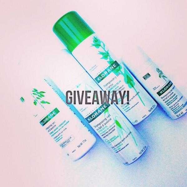 Follow me & @klorane & RT to enter to win 4 dry shampoos #giveaway http://t.co/pnIr6tkBvc