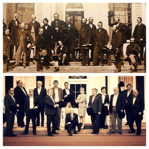 In Charlottetown, premiers recreate a photo from 1864 #cdnpoli RT @InfoPEI:  http://t.co/ori8FYCLJd