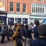 Great crowd on hand to see the @PSUBlueBand and @NittanyLion. #WeAre http://t.co/mGYTgO9dyA