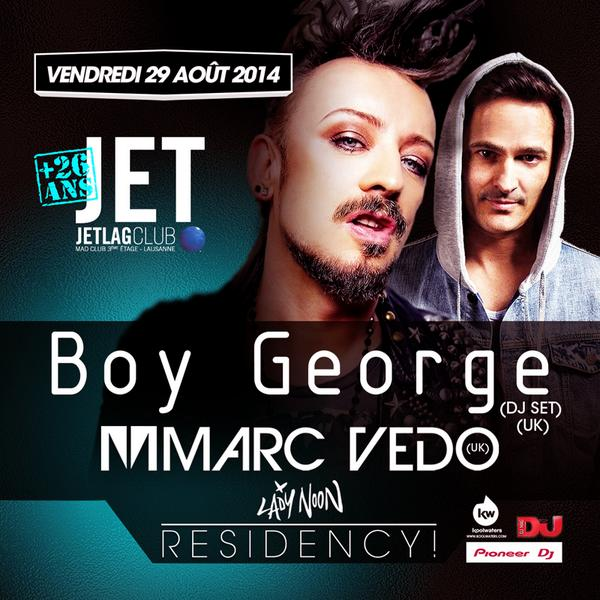 Excited to be launching my new monthly residency at MAD Club, Lausanne in Switzerland tomorrow night with @BoyGeorge! http://t.co/1rWqovlMR8