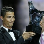 Real Madrid forward Cristiano Ronaldo wins Uefas Best Player in Europe Award http://t.co/kMqI4VzfHF http://t.co/P1NH81pA6R