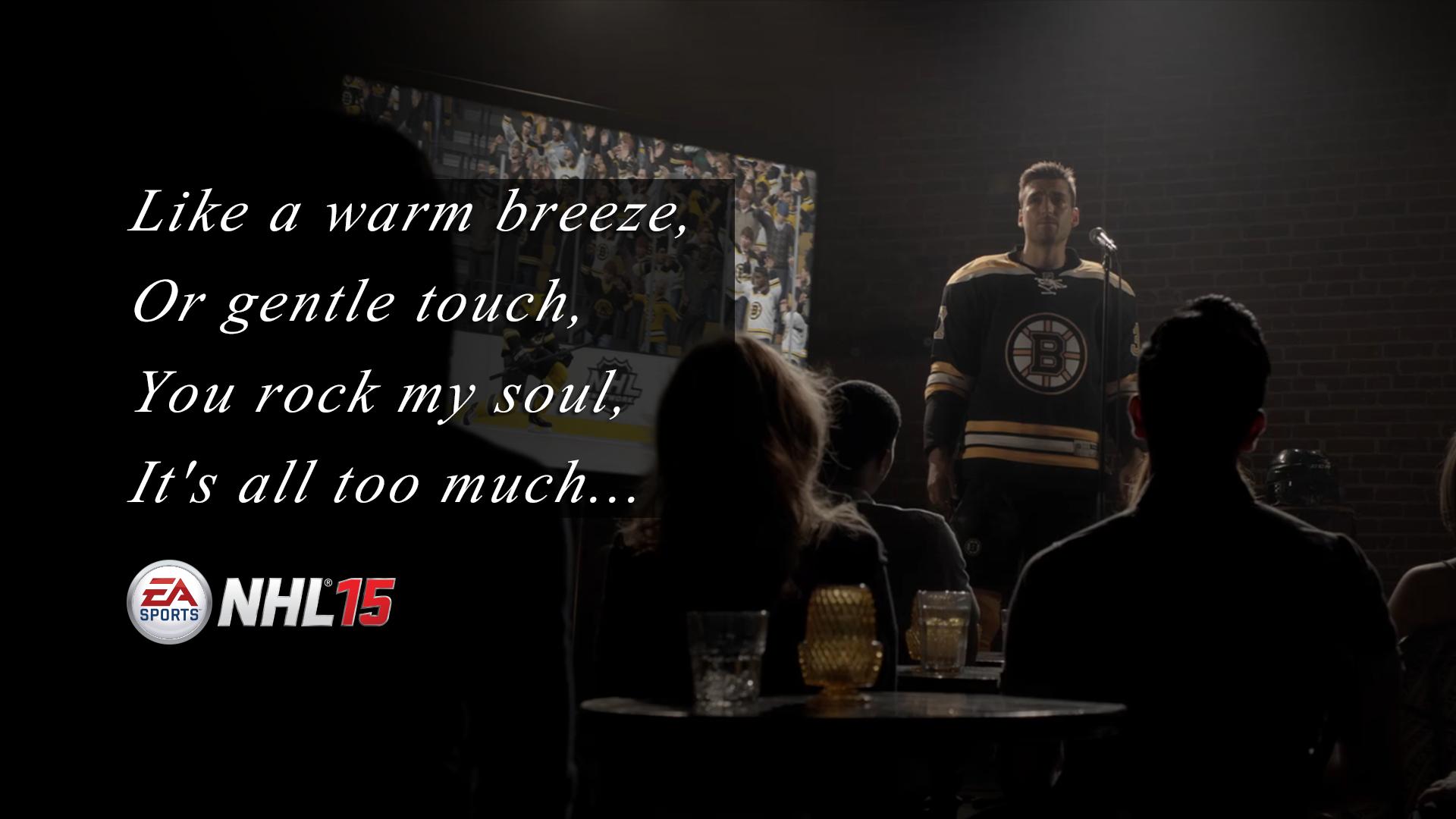 Patrice Bergeron of the @NHLBruins bears his soul tomorrow! #NHL15 http://t.co/Hc829mFyhG