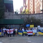 RT @LithuaniaUNNY: #Russia stop war in #Ukraine demand protesters outside #UN headquarters in New York http://t.co/IOzpTc85nr