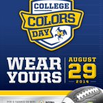 Get your best blue & gold shirt ready for tomorrow - its College Colors Day! #Geauxblue #McNeese #CollegeColorsDay http://t.co/KM7ZyZjffy