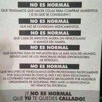 NO es normal q te quedes callado , #Venezuela NO esta normal http://t.co/w2kO6PXjHy