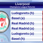 RT @SkySportsNewsHQ: #LFC fans here are your #UCL group stage fixtures: Real Madrid back-to-back. #SSNHQ http://t.co/WVGjCxQcOj