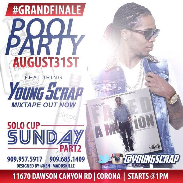 @youngscrap turn up this Sunday!!! #SoloCup pt.2 http://t.co/FYovOTMiow