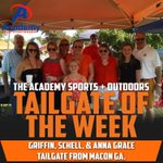 Congratulations to Academy Sports & Outdoors Tailgate of the Week winners: Griffin, Schell & Anna Grace from Macon! http://t.co/rFsfOrOQnT